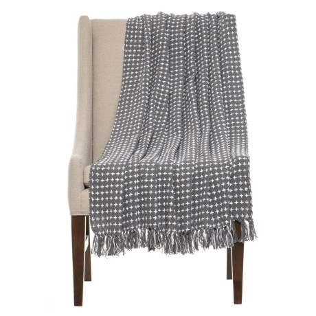 "AM Home Textiles Tic-Tac Throw Blanket - 50x60"" in Black/White"