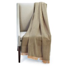 """Amana Designer Series Cotton Throw Blanket- 50x70"""" in Olive/Brown/Tan - Closeouts"""