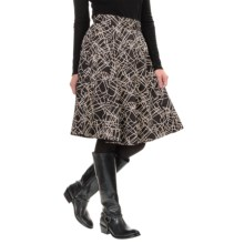 Amanda + Chelsea A-Line Skirt - Rear Zip (For Women) in Black/Stone - Overstock