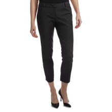 Amanda + Chelsea Ankle Pants (For Plus Size Women) in Black - Closeouts