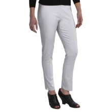 Amanda + Chelsea Ankle Pants - Low Rise, Narrow Leg (For Women) in White - Closeouts