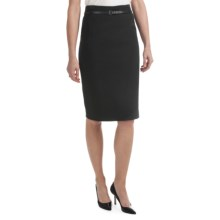 Amanda + Chelsea Belted Straight Skirt (For Women) in Black - Closeouts