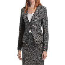Amanda + Chelsea Boucle Jacket (For Women) in Black/White Tweed - Closeouts