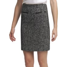 Amanda + Chelsea Boucle Straight Skirt (For Women) in Black/White Tweed - Closeouts