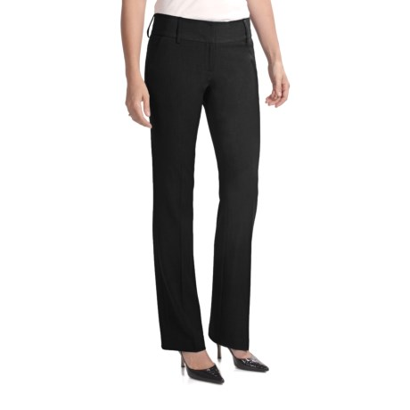 Amanda + Chelsea Contemporary Fit Dress Pants (For Women) in Black