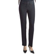 Amanda + Chelsea Contemporary Fit Stripe Pants - Narrow Leg (For Women) in Black/Navy - Closeouts