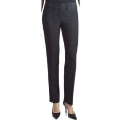 Amanda + Chelsea Contemporary Fit Stripe Pants - Narrow Leg (For Women) in Black/Navy