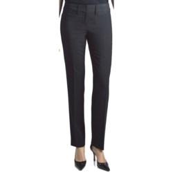 Amanda + Chelsea Contemporary Fit Stripe Pants - Narrow Leg (For Women) in Black/Navy