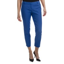 Amanda + Chelsea Cotton Blend Ankle Pants (For Women) in French Blue - Closeouts