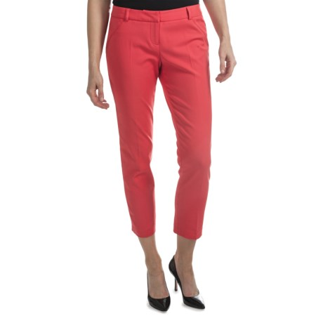 Amanda + Chelsea Cotton Blend Ankle Pants (For Women) in Fruit Punch