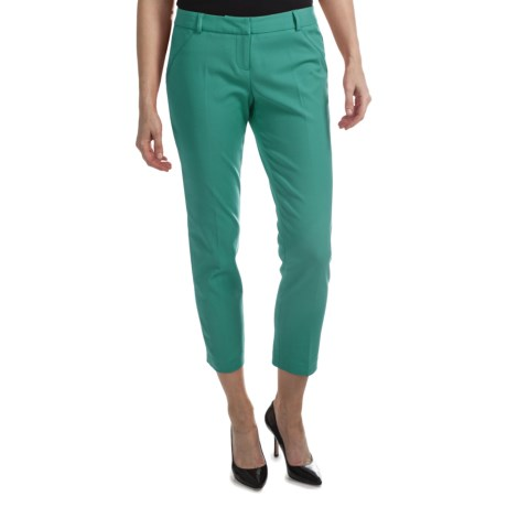 Amanda + Chelsea Cotton Blend Ankle Pants (For Women) in Green