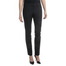 Amanda + Chelsea Cotton Blend Narrow Leg Pants (For Women) in Black - Closeouts