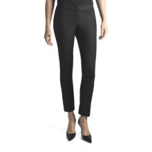Amanda + Chelsea Euronylon Pants - Narrow Leg (For Women) in Black - Closeouts