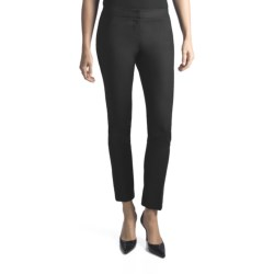 Amanda + Chelsea Euronylon Pants - Narrow Leg (For Women) in Black