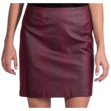 Amanda + Chelsea Faux-Leather Snake Skirt (For Women) in Burgundy - Closeouts