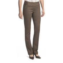 Amanda + Chelsea Herringbone Barely Boot Pants - Low Rise (For Women) in Brown - Closeouts