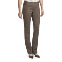 Amanda + Chelsea Herringbone Barely Boot Pants - Low Rise (For Women) in Brown
