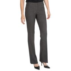 Amanda + Chelsea Herringbone Pants - Low Rise, Straight Leg (For Women) in Grey