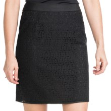 Amanda + Chelsea Lace Straight Skirt (For Women) in Black - Closeouts