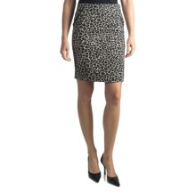 Amanda + Chelsea Leopard Straight Skirt (For Women) in Leopard - Closeouts