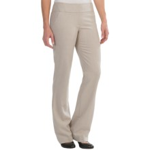 Amanda + Chelsea Melange Wide Band Pants (For Women) in Oatmeal - Closeouts