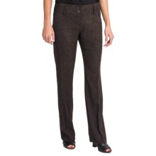 Amanda + Chelsea Mini Boucle Pants - Straight Leg (For Women) in Brown - Closeouts