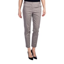 Amanda + Chelsea Novelty Ankle Pants (For Plus Size Women) in Grey Leopard - Closeouts
