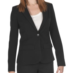 Amanda + Chelsea One-Button Blazer (For Women) in Black