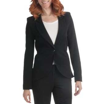 Amanda + Chelsea One-Button Jacket (For Women) in Black