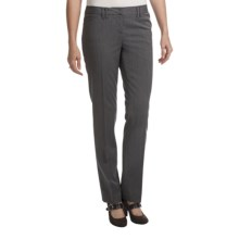 Amanda + Chelsea Pinstripe Dress Pants - Narrow Leg (For Women) in Grey Pinstripe - Closeouts