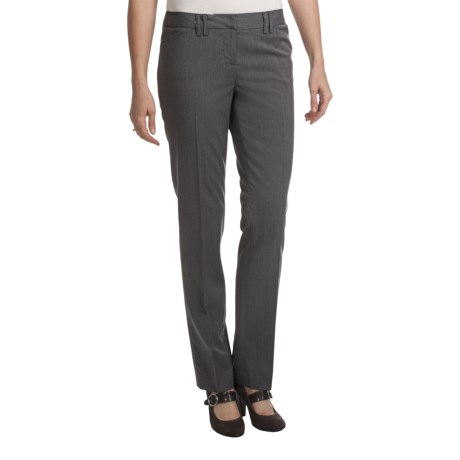 Amanda + Chelsea Pinstripe Dress Pants - Narrow Leg (For Women) in Grey Pinstripe