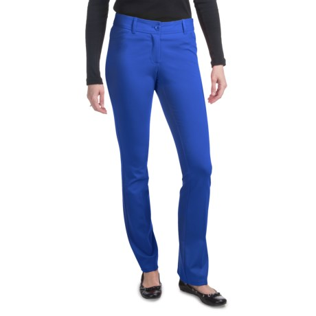 Amanda + Chelsea Ponte Baby Boot Pants - Low Rise (For Women) in French Blue