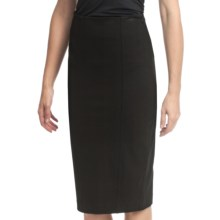 Amanda + Chelsea Ponte Knit Straight Skirt (For Women) in Black - Closeouts