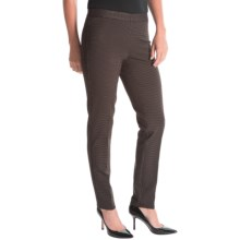 Amanda + Chelsea Ponte Pants (For Women) in Black/Brown Houndstooth - Closeouts