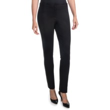 Amanda + Chelsea Ponte Pants - Pleather Stripe, Skinny Leg (For Women) in Black - Closeouts