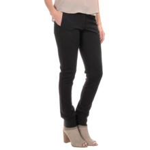 Amanda + Chelsea Ponte Pants - Skinny Leg, Contemporary Fit (For Women) in Black - Overstock