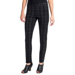 Amanda + Chelsea Ponte Plaid Skinny Leg Pants (For Women) in Black Watch