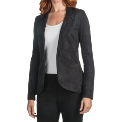 Amanda + Chelsea Riding Jacket - Faux Suede (For Women) in Black