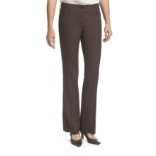 Amanda + Chelsea Salt & Pepper Contemporary Pants - Low Rise (For Women) in Brown - Closeouts