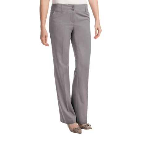 Amanda + Chelsea Salt & Pepper Contemporary Pants - Low Rise (For Women) in Grey