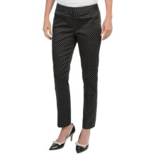 Amanda + Chelsea Sateen Dot Ankle Pants (For Women) in Black/White - Closeouts