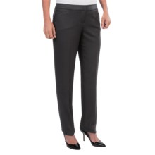 Amanda + Chelsea Shadow Stripe Pants - Narrow Leg (For Women) in Black - Closeouts