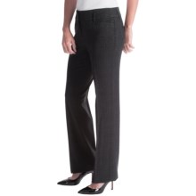 Amanda + Chelsea Soft Plaid Straight-Leg Pants (For Women) in Charcoal - Closeouts