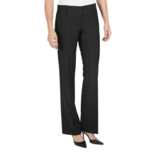 Amanda + Chelsea Straight-Leg Dress Pants - Contemporary Fit, Low Rise (For Petite Women) in Black - Closeouts