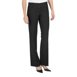 Amanda + Chelsea Straight-Leg Dress Pants - Contemporary Fit, Low Rise (For Petite Women) in Black