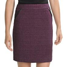 Amanda + Chelsea Tweed Straight Skirt (For Women) in Wine - Closeouts
