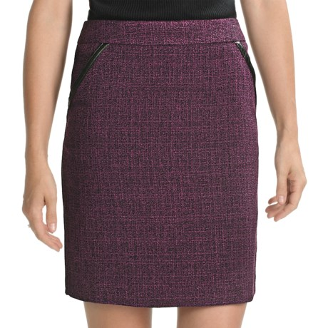 Amanda + Chelsea Tweed Straight Skirt (For Women) in Wine