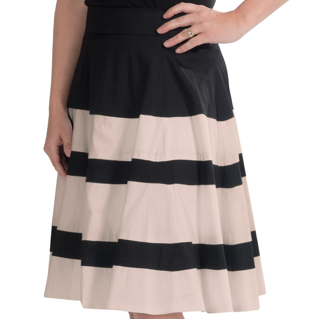 amanda chelsea wide stripe pleated skirt for