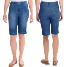 Amanda Bermuda Jean Shorts (For Women) in Medium Wash - 2nds