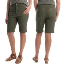 Amanda Bermuda Jean Shorts (For Women) in Olive - 2nds